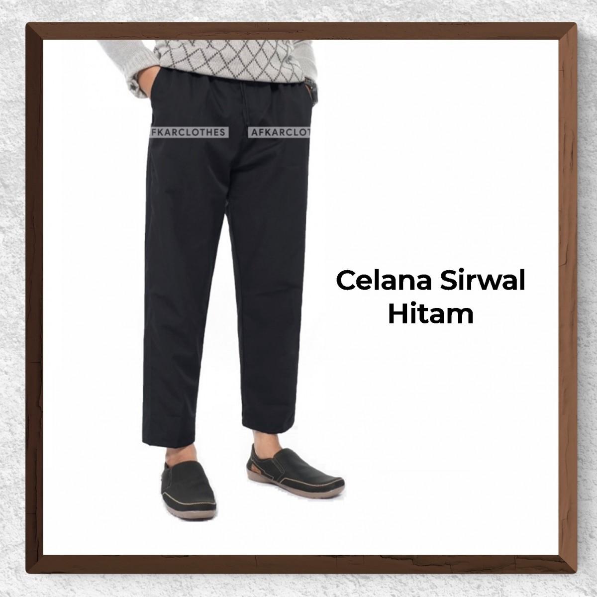 Celana Sirwal Warna Hitam