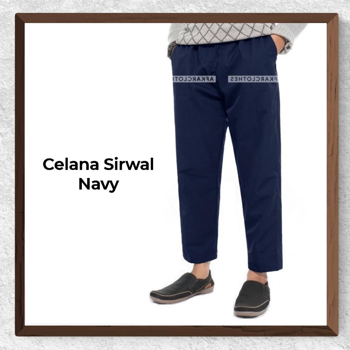 Celana Sirwal Warna Navy