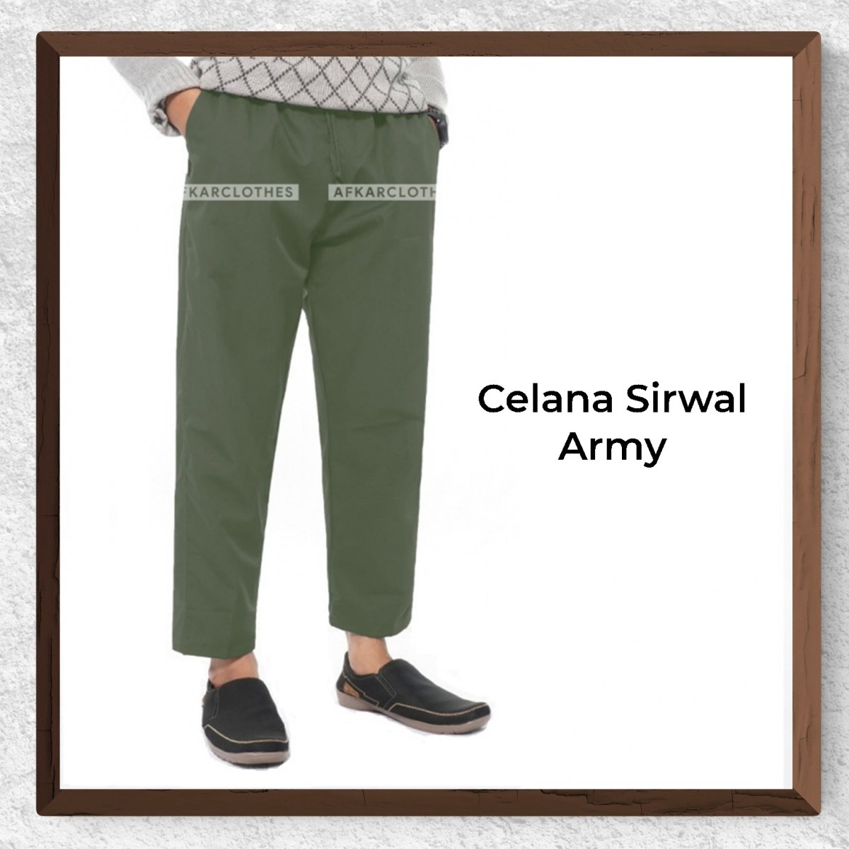 Celana Sirwal Warna Army