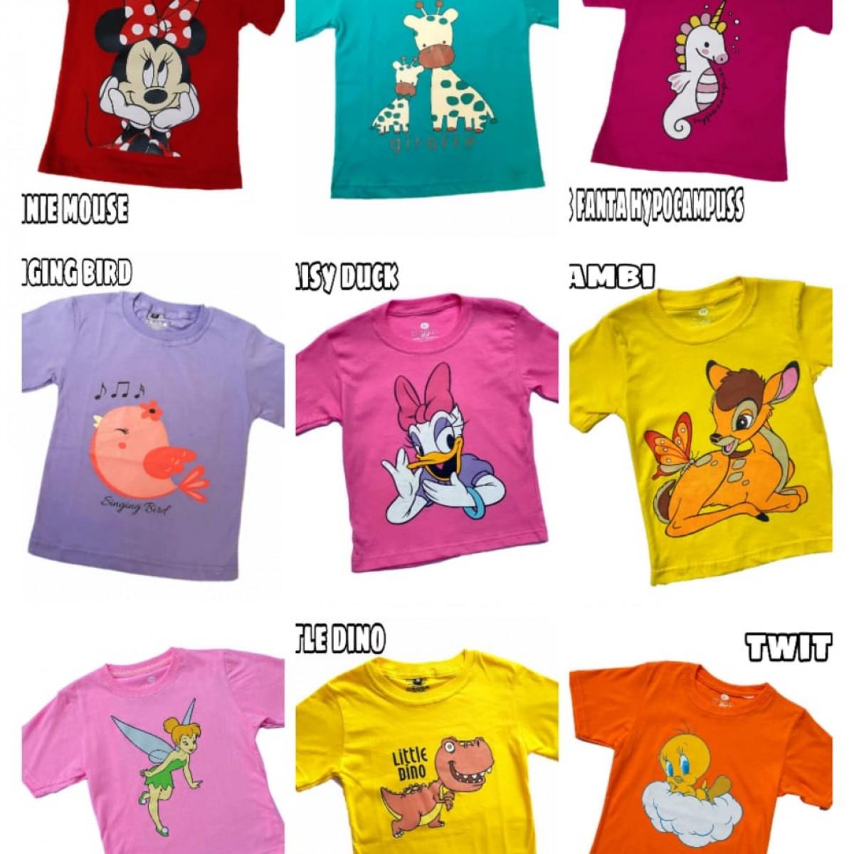 Kaos anak perempuan serial kartun
