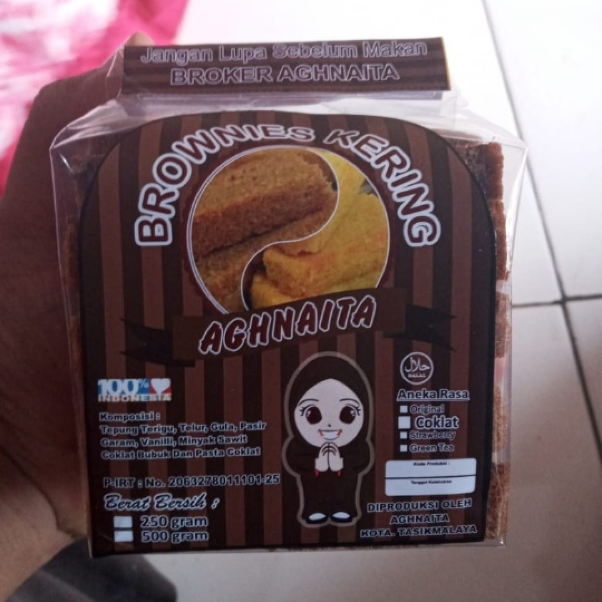 Brownies Kering Cokelat
