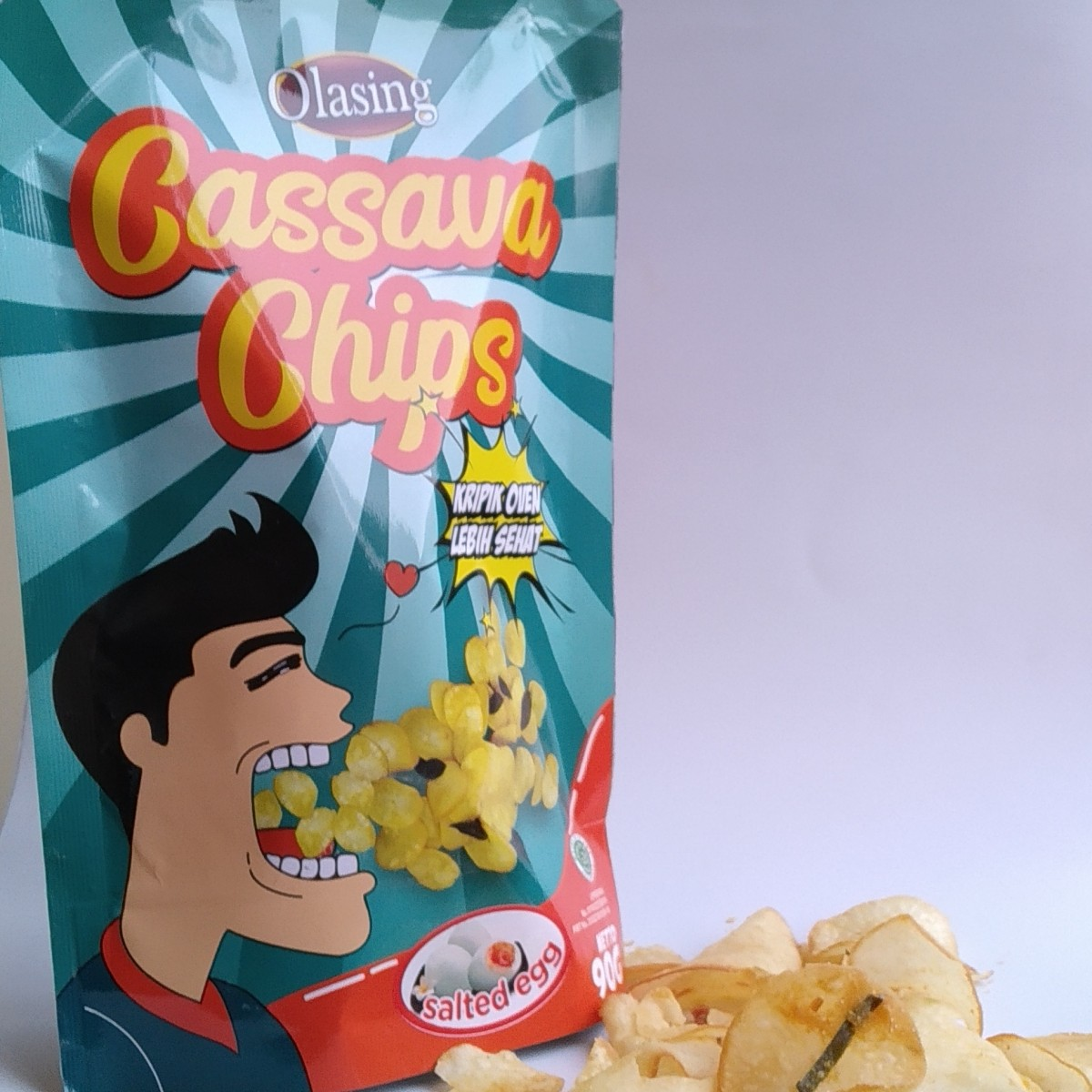 Cassava chips rasa Salted egg