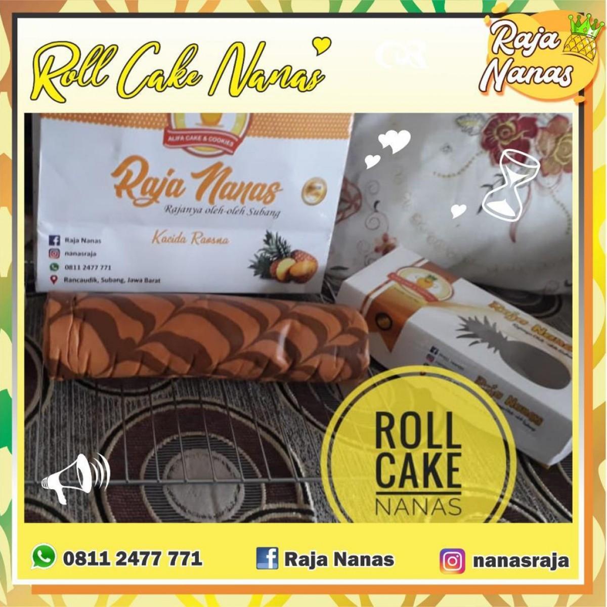 Roll cake nanas